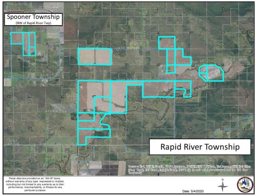 3,276.73± Acre Farmland Rapid River & Spooner Twps | Lake of the Woods County, MN